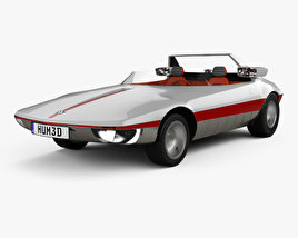 3D model of Autobianchi Runabout Bertone 1969