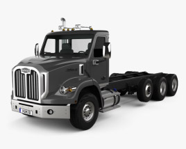 3D model of Autocar DC-64 Tractor Truck 4-axle 2019
