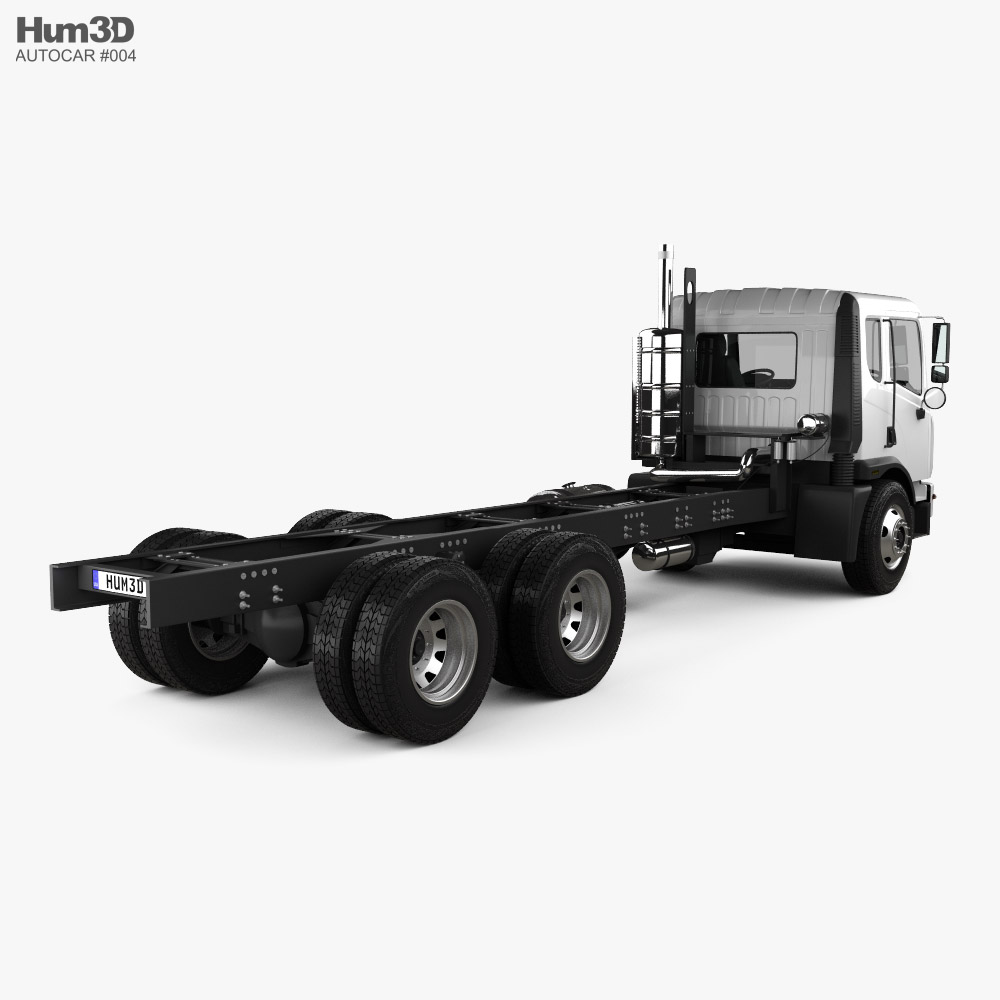 Autocar ACMD 2306 Chassis Truck 2021 3d model back view