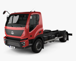3D model of Avia D75 Chassis Truck 2018