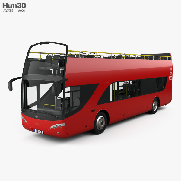 3D model of Ayats Bravo I City Double Decker Bus 2012