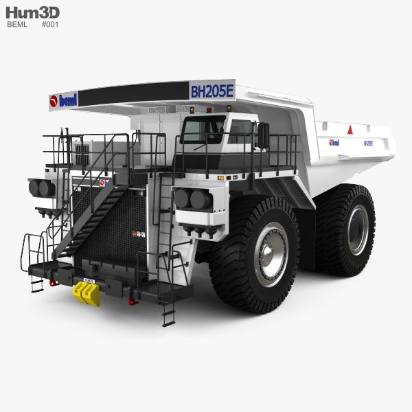 BEML BH205E-AC Dump Truck 2015 3D model