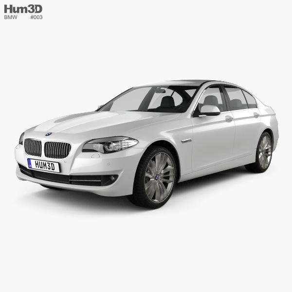 3D model of BMW 5 series sedan 2011