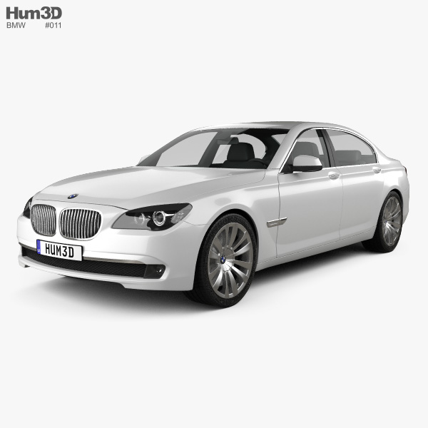 3D model of BMW 7 Series Sedan 2011