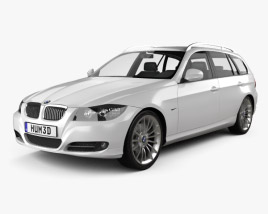 3D model of BMW 3 series Touring 2011