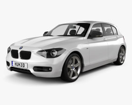 3D model of BMW 1 Series (F20) 5-door 2011
