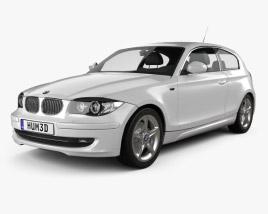 3D model of BMW 1 Series 3-door 2009