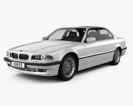 3D model of BMW 7 series e38 1998