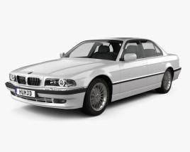3D Model Of BMW 7 Series E38 1998