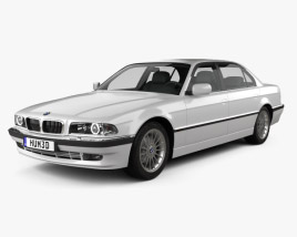 3D model of BMW 7 series L e38 1998
