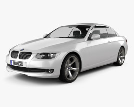 3D model of BMW 3 series Convertible 2011