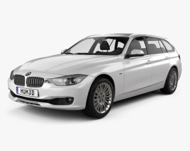 3D model of BMW 3 Series (F31) touring 2012