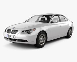 3D model of BMW 5 Series Sedan E60 2010
