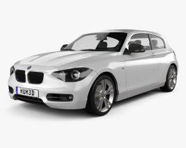 3D model of BMW 1 Series (F21) 3-door 2012