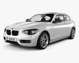 3D model of BMW 1 Series (F21) 3-door 2012