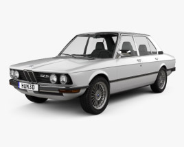 3D model of BMW 5 Series sedan (E12) 1978