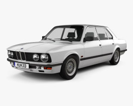 3D model of BMW 5 Series sedan (E28) 1987