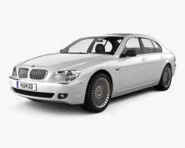 3D model of BMW 7 Series (E65) 2008