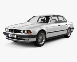 3D model of BMW 7 Series (E32) 1992