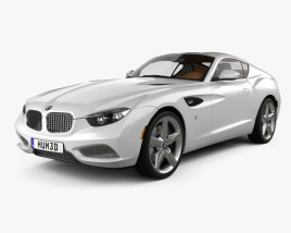3D model of BMW Zagato Coupe 2012