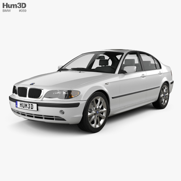 3D model of BMW 3 Series sedan (E46) 2004