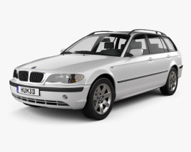 3D model of BMW 3 Series touring (E46) 2001