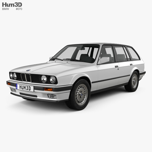3D model of BMW 3 Series touring (E30) 1990