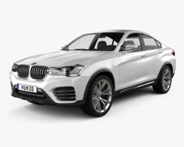 3D model of BMW X4 concept 2014