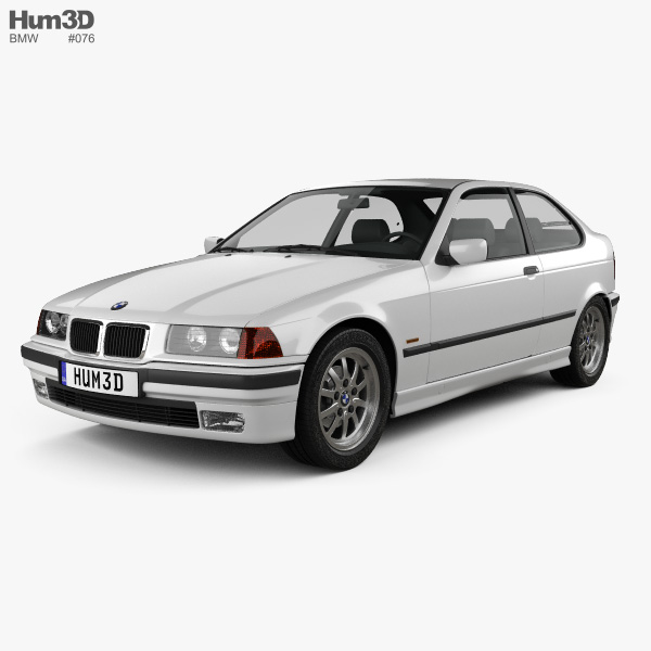 3D model of BMW 3 Series (E36) compact 1994