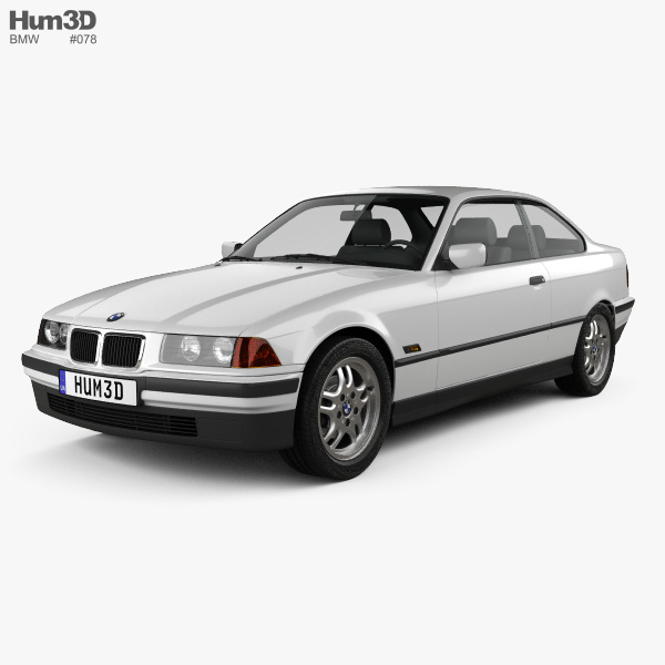 3D model of BMW 3 Series (E36) coupe 1994