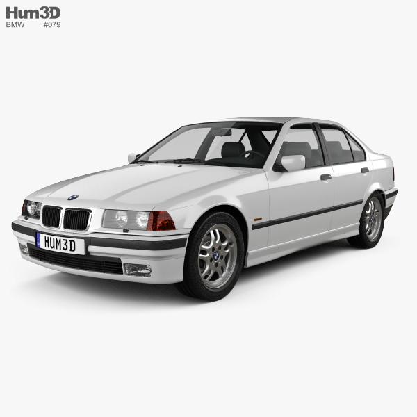 3D model of BMW 3 Series (E36) sedan 1994