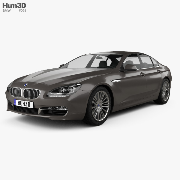 3D model of BMW 6 Series (F06) Gran Coupe 2012