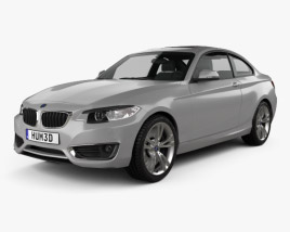 3D model of BMW 2 Series coupe (F22) 2014