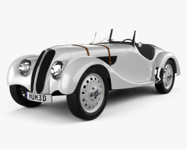 3D model of BMW 328 1936