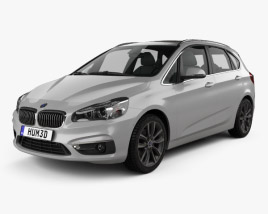 3D model of BMW 2 Series Active Tourer (F45) 2014