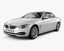 3D model of BMW 4 Series (F33) convertible Luxury Line 2013