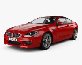 3D model of BMW 6-series (F13) Coupe M Sport Package 2012