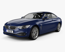 3D model of BMW 4 Series (F32) Coupe Luxury Line 2013