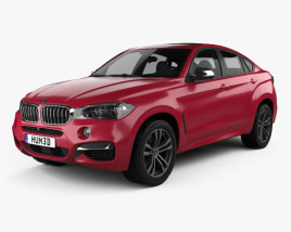 3D model of BMW X6 (F16) M sport package 2014