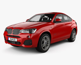 3D model of BMW X4 M Sport Package (F26) 2014