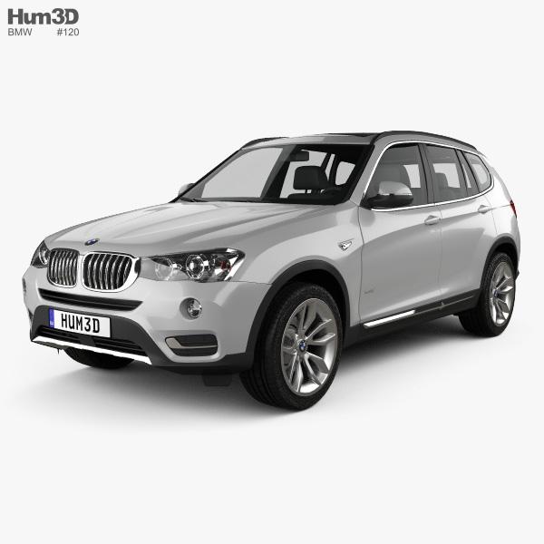 3D model of BMW X3 (F25) 2014