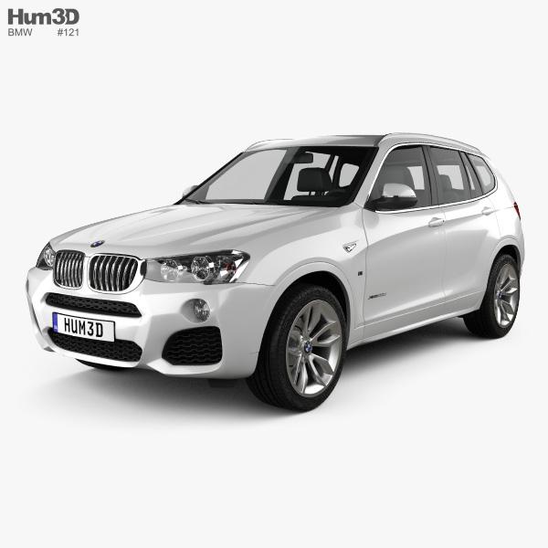3D model of BMW X3 M Sport Package (F25) 2014