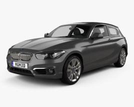 3D model of BMW 1 Series (F21) 3-door Urban Line 2015