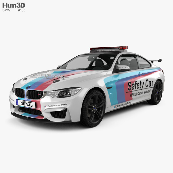 3D model of BMW 4 Series M coupe MotoGP Safety Car 2014