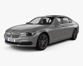 3D model of BMW 7 Series (G12) L 2015