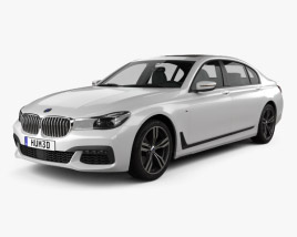3D model of BMW 7 Series (G12) L M Sport Package 2015