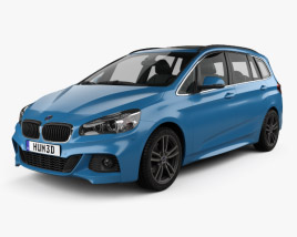 3D model of BMW 2 Series Gran Tourer (F46) M Sport Package 2015