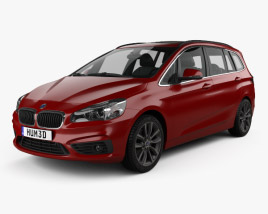 3D model of BMW 2 Series Gran Tourer (F46) Sport Line 2015