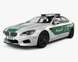 3D model of BMW 6 Series M6 (F13) GranCoupe Police Dubai 2014