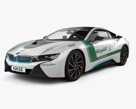 3D model of BMW i8 Police Dubai 2015